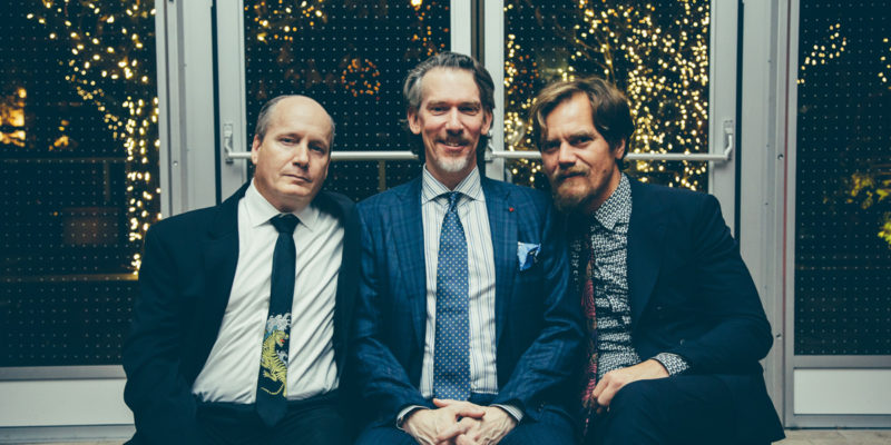A Red Orchid Theatre's Founding Ensemble Members Guy Van Swearingen, Lawrence Grimm, & Michael Shannon at the 2018 Gala.